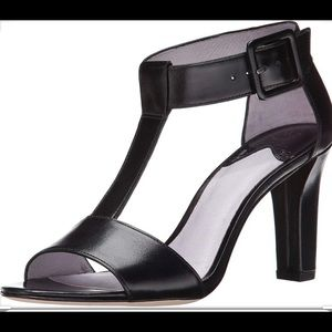 Johnston & Murphy leather t-strap sandal heels
